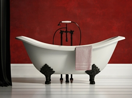 cheviot regal double ended cast iron white clawfoot tub