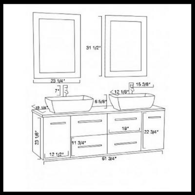 espresso, wall mount, bathroom vanity,
