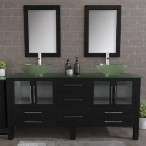 8119BXL_CP_2 Espresso XL Double Vessel Sink Vanity Set