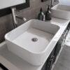8119XL_BN_3 Espresso Double Porcelain Vessel Sink Vanity Set