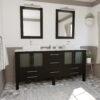 8119XL CP Espresso Double Sink Vanity Set
