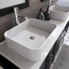 8119_CP_3 Espresso Double Porcelain Vessel Sink Vanity Set