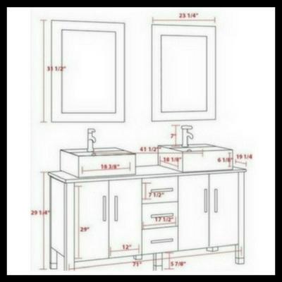 double vessel sink, bathroom vanity set, espresso,