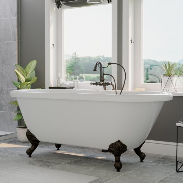 double ended clawfoot tub,
