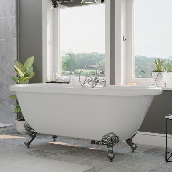 acrylic clawfoot tub,