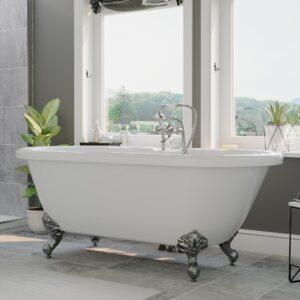 clawfoot tub, acrylic tub,