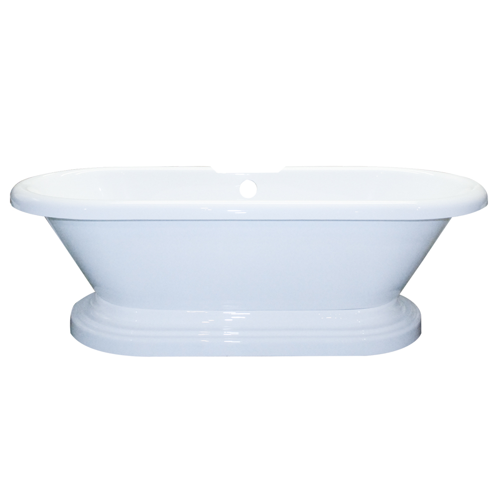 Freestanding Acrylic Double Ended Pedestal Bathtub 70\