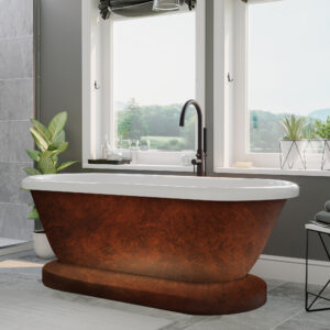 pedestal tub, copper bronze tub,