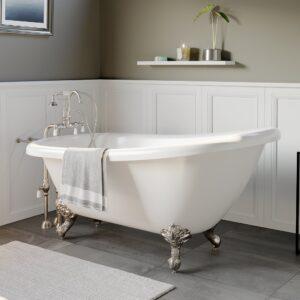 acrylic slipper tub, clawfoot tub,