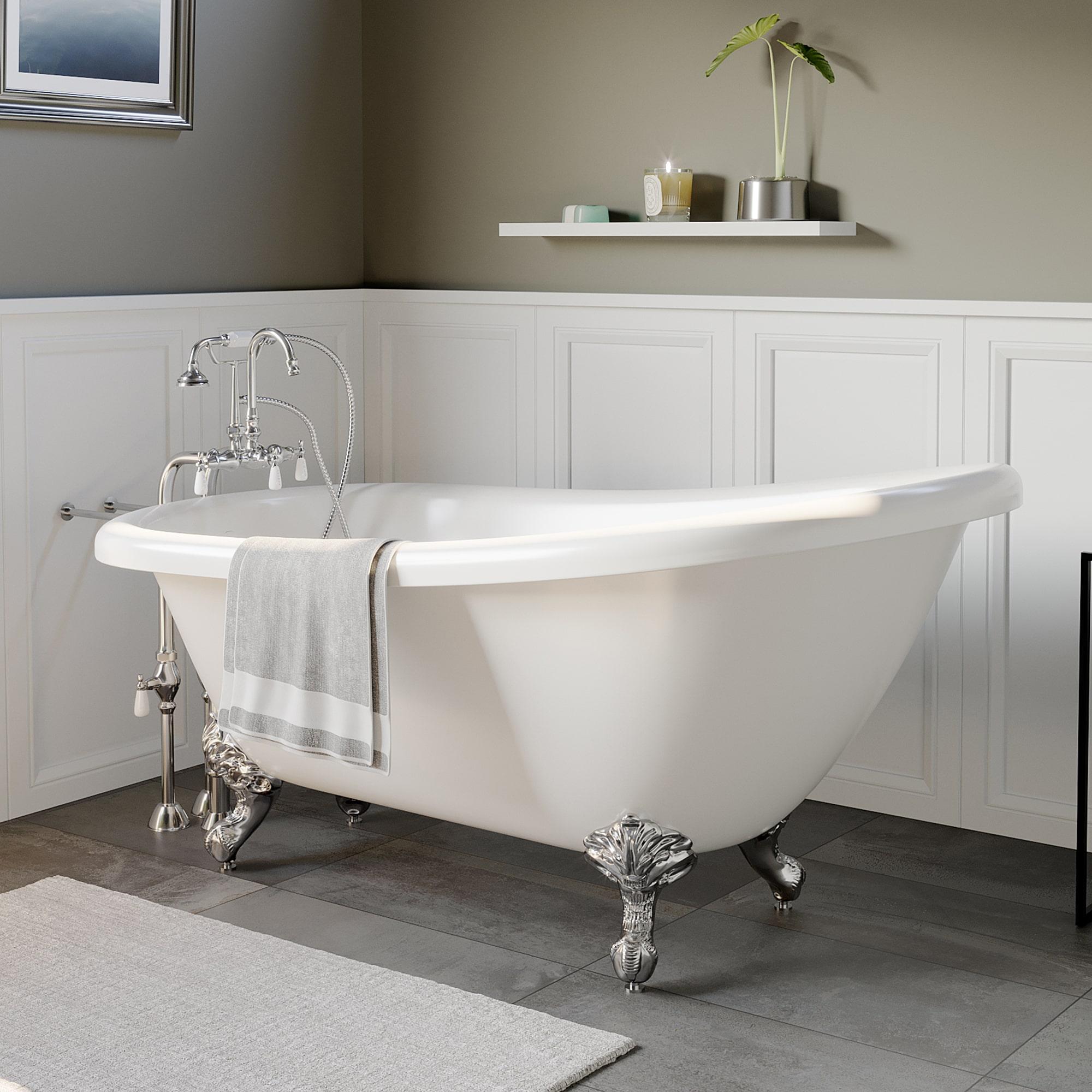acrylic clawfoot slipper tub,