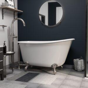 "54"" Swedish Tub, BN CAM150 Faucet"