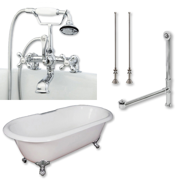 classic double ended claw foot bathtub