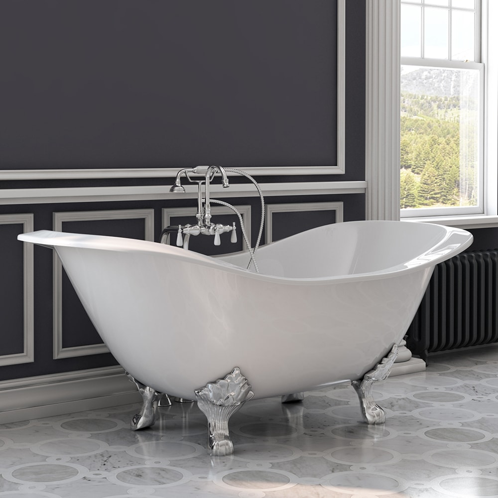Cast Iron Double Ended Slipper Tub 71\