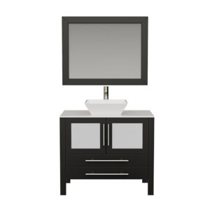 8111 Espresso Bathroom Vanity Set w/Brushed Nickel Faucet