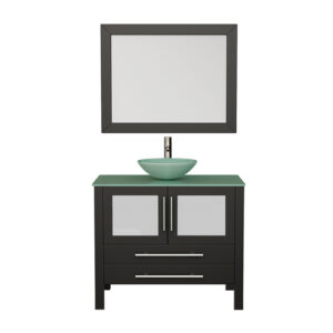 8111B Bathroom Vanity Set w/Brushed Nickel Faucet