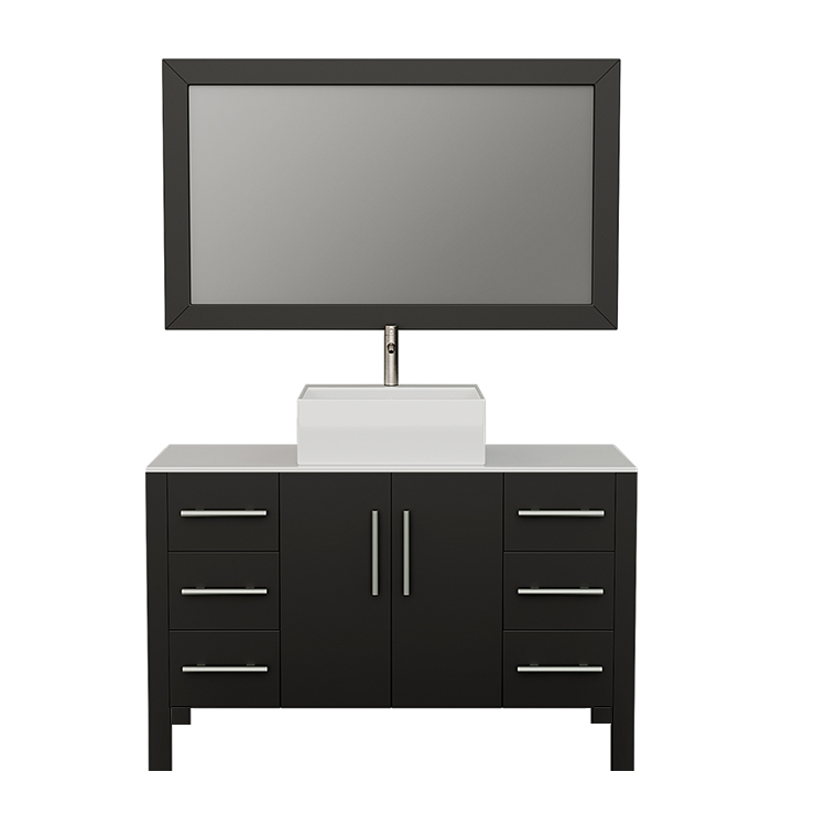8116 Espresso Bathroom Vanity w/Brushed Nickel Faucet