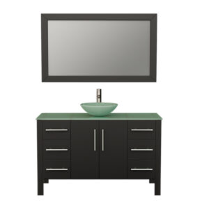 8116 Espresso Vanity Set w/Brushed Nickel Faucet