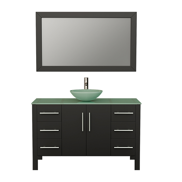 8116 Espresso Vanity Set w/Brushed Nickel Faucet