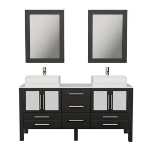 8119 Espresso Vanity Set w/Brushed Nickel Faucets