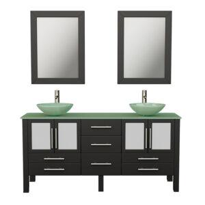 8119B Espresso Bathroom Vanity Set w/Brushed Nickel Faucets