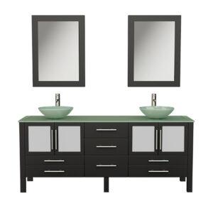 8119BXL Espresso Bathroom Vanity Set w/Brushed Nickel Faucets