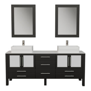 8119XL Espresso Vanity Set w/Brushed Nickel Faucets