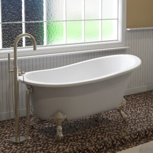 clawfoot tub, slipper tub, cast iron,
