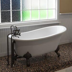 cast iron, clawfoot tub, slipper tub,
