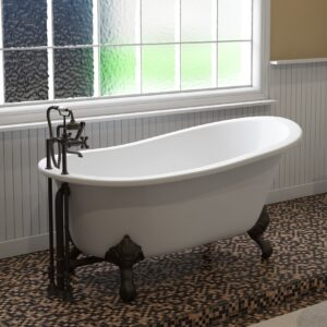 slipper tub, cast iron slipper tub, clawfoot tub,