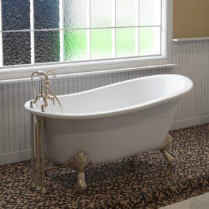 slipper tub, cast iron, clawfoot tub, bn,