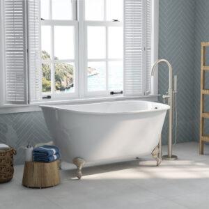 cast iron, slipper tub, clawfoot tub, swedish soaking tub,