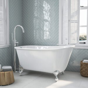 "54"" Swedish Clawfoot Tub with 150 Faucet chrome 01"