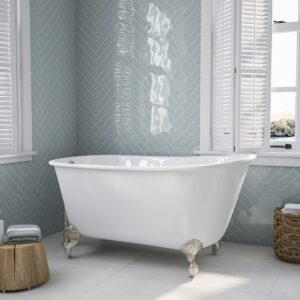 54 inch Swedish tub, Cast Iron Tub, 01