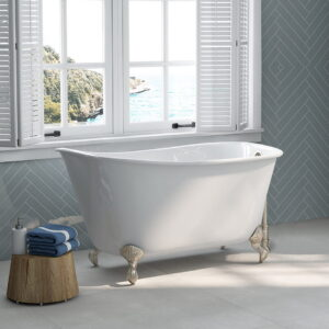 Swedish Tub with Brushed Nickel Clawfeet 01