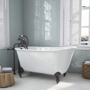 "58"" Swedish Tub w/telephone faucet orb 01"