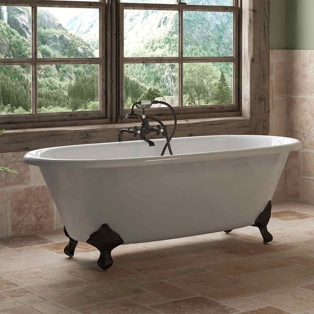 Classic Double Ended Clawfoot Tub And British Telephone
