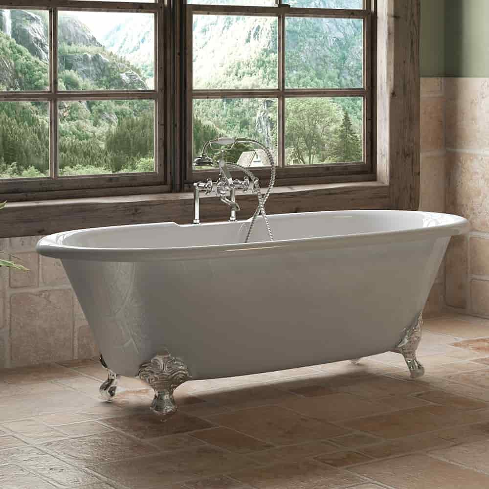 Classic Double Ended Clawfoot Tub Telephone Faucet Pkg & 6\