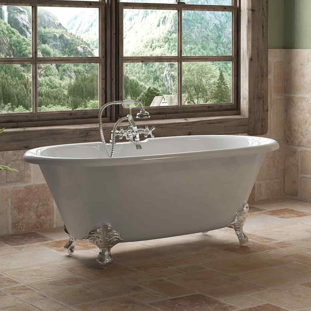 cast iron, double end, clawfoot tub,