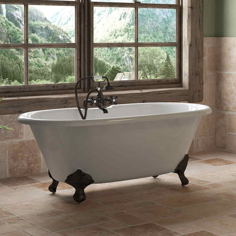 60 Quot Cast Iron Double Ended Clawfoot Tub Package