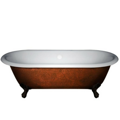 Acrylic Double Ended Tub, Copper Bronze Tub,