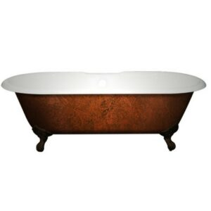 Double-Ended, Cast Iron, Clawfoot Tub, Copper Bronze,