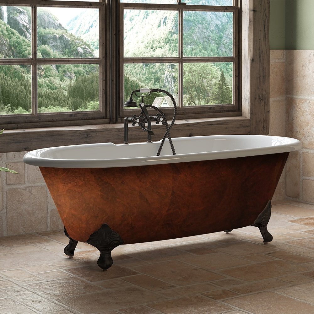 Copper Bronze Cast Iron Double Ended Clawfoot Tub, clawfoot tub,
