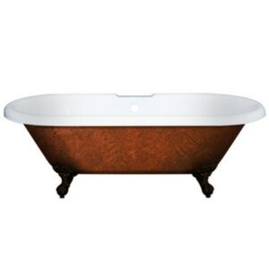Double Ended Tub, Acrylic, Clawfoot, Copper Bronze Finish,