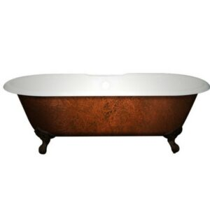 Cast Iron Double Ended Clawfoot Tub Copper Bronze 01