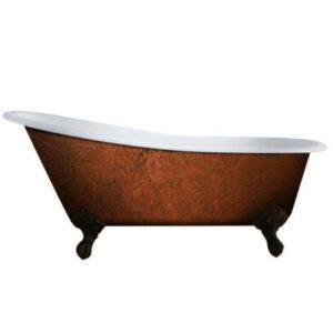 Cast Iron, Slipper Tub, Copper Bronze, 02