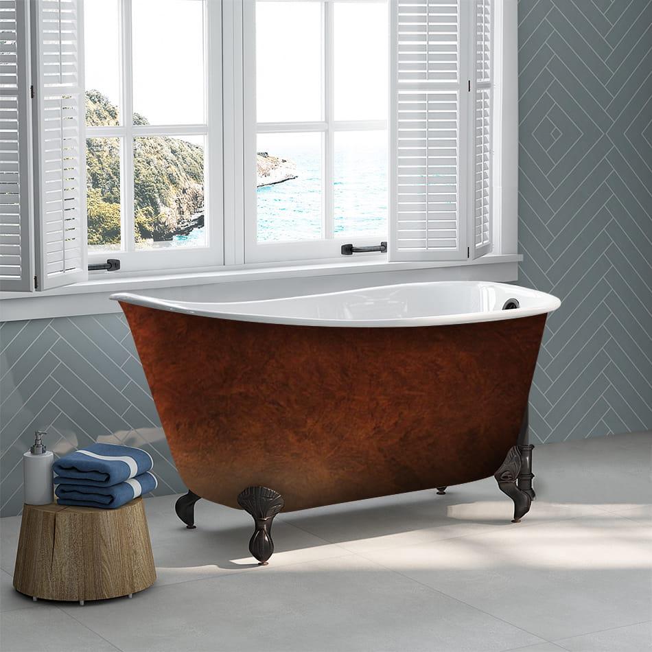 Copper Bronze Clawfoot Tub with ORB Feet 01