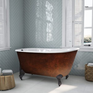 Swedish Clawfoot Tub w/Copper Bronze Finish 01