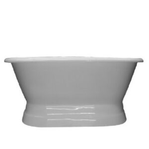 Double Ended, Cast Iron, Pedestal Tub,