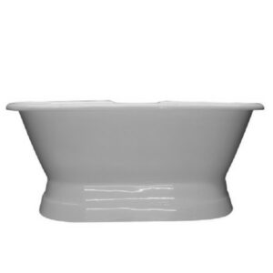 Double Ended, Cast Iron, Pedestal Tub, Schematic