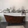 Cast Iron Slipper Clawfoot Tub, Copper Bronze Finish ST61-DH